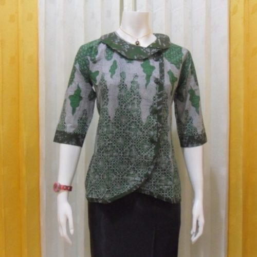 Trend Batik Kerja 2014: 20 Model Baju Batik Kerja Terkini