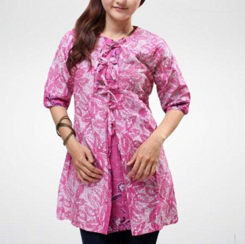 Model Baju Batik Kerja Untuk Tubuh Gemuk: 20 Model Baju Batik Kerja Terkini