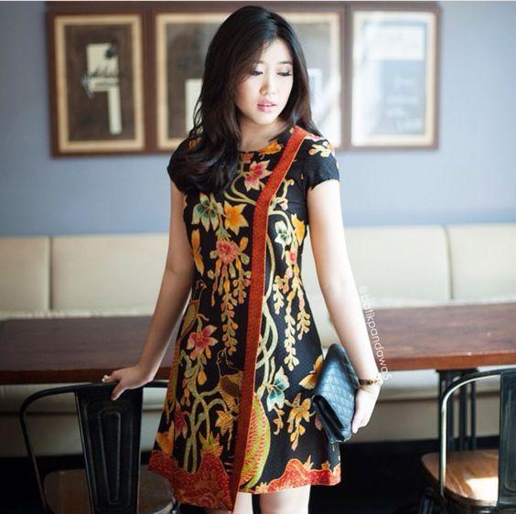 Dress Batik Modern Terbaru 2017 Cantik Anggun Dan Elegan Ragam