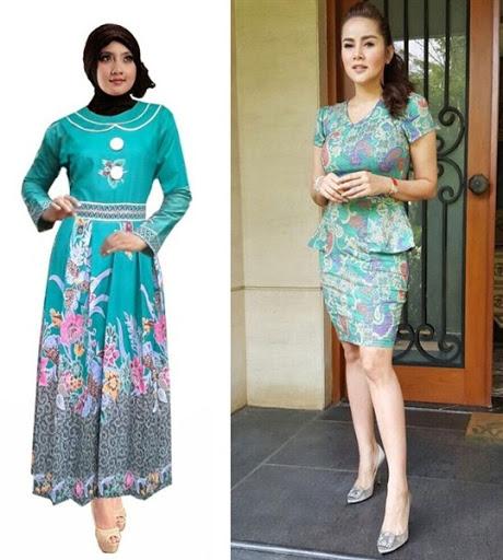 Model Baju Batik Semi Formal: Dress Batik Modern Terbaru 2017