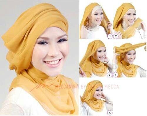 Tutorial Hijab Pesta Terbaru Segi Empat dan Pashmina