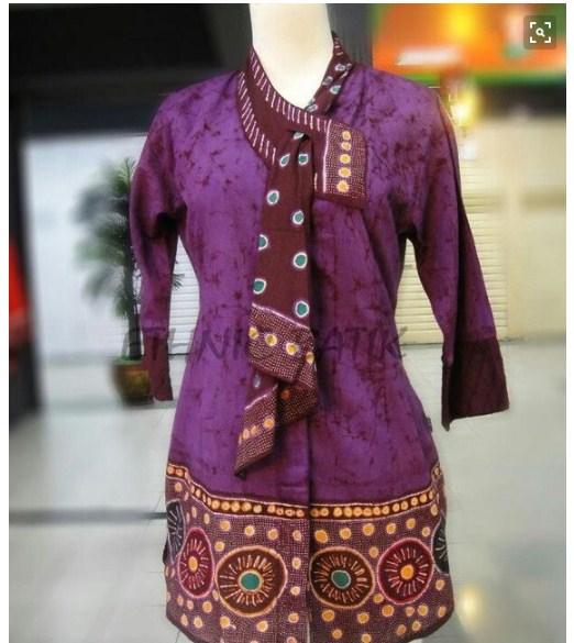 20 Model Baju Batik Kerja Terkini - Ragam Fashion
