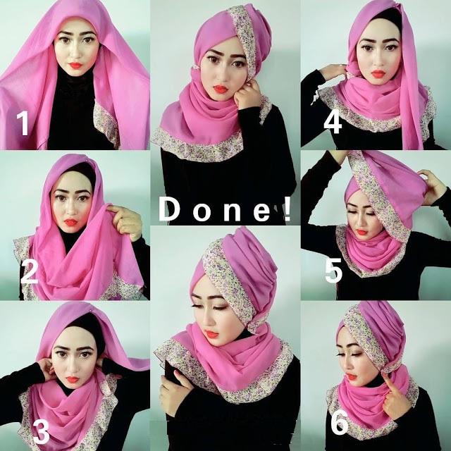 Tutorial Hijab Pesta Terbaru Segi Empat Dan Pashmina Ragam Fashion