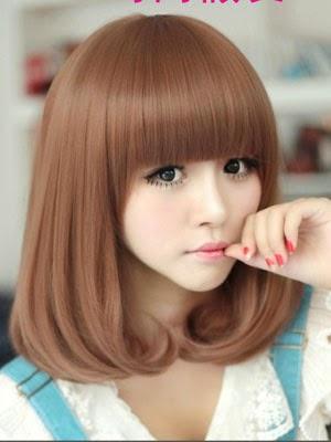 Memilih Model Rambut Pendek Wanita Dan Pria Dari Segi Karakter - Gaya rambut pendek berponi