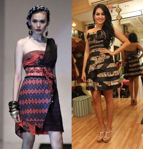 Model Baju Batik Dress Pesta: 40 Ide Model Dress Pesta Modern Terbaik 2017