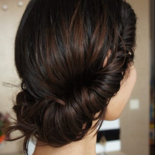 Low Bun Prom Pictures To Pin On Pinterest Tattooskid