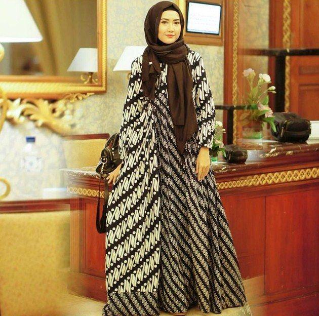 Model Baju Muslim Gamis Batik: Desain Baju Batik Pesta Ini Bakal Bikin Kamu Hits
